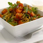 Brown Rice & Barley Salad with Spiced Chickpeas, Sweet Potato & Currants