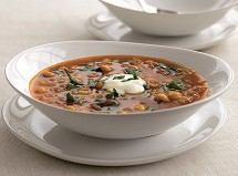 Spicy Moroccan Chickpea & Lentil Soup