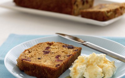 Apple, Cranberry & Walnut Bread