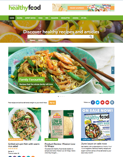 Website review healthy food guide northside nutrition dietetics the companion website for australian healthy food guide magazine the healthy food guide website aims to make healthy eating easy and delicious forumfinder Image collections